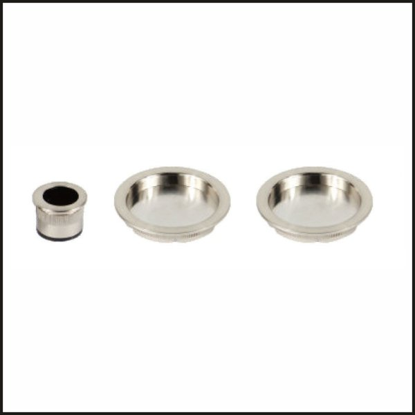 Round Flush Pull Pocket Door Set